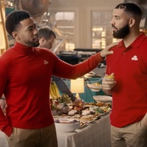Drake Meets Jake From State Farm In 2021 Super Bowl Ad. Photo via State Farm/Adweek