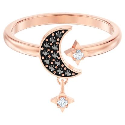 Swarovski Symbolic Moon Motif Ring