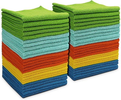 AIDEA Microfiber Cleaning Cloths (Pack of 50)
