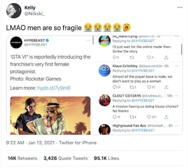 twitter reactions to GTA 6 female protagonist rumors