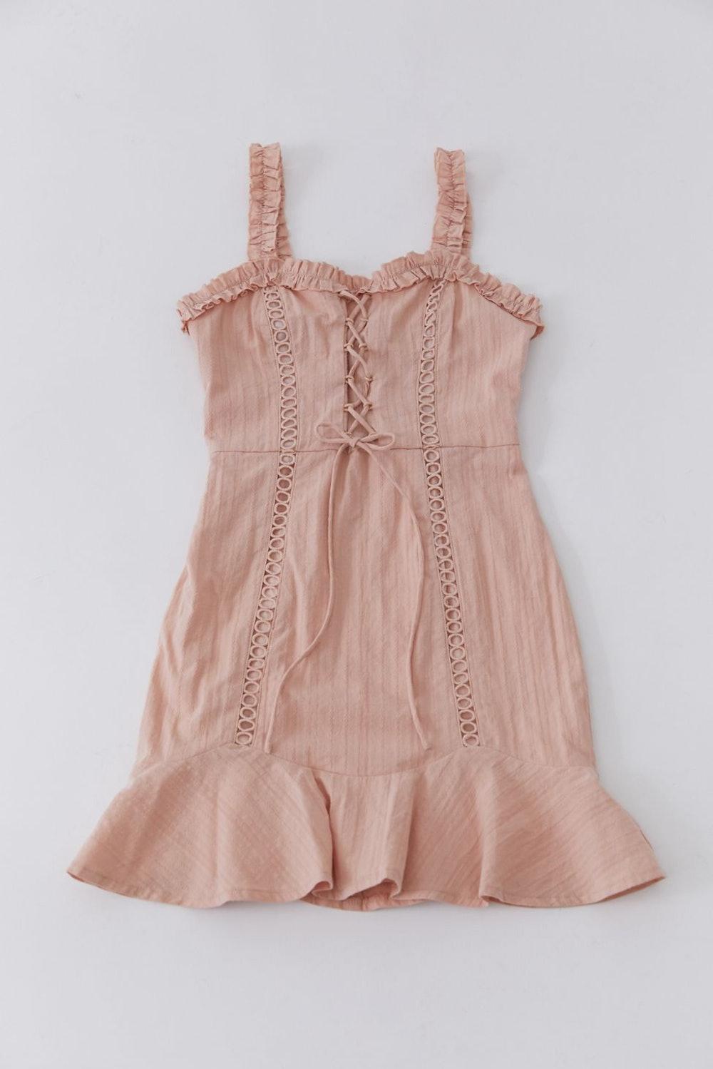 Kiss The Sky Layla Lace-Up Mini Dress