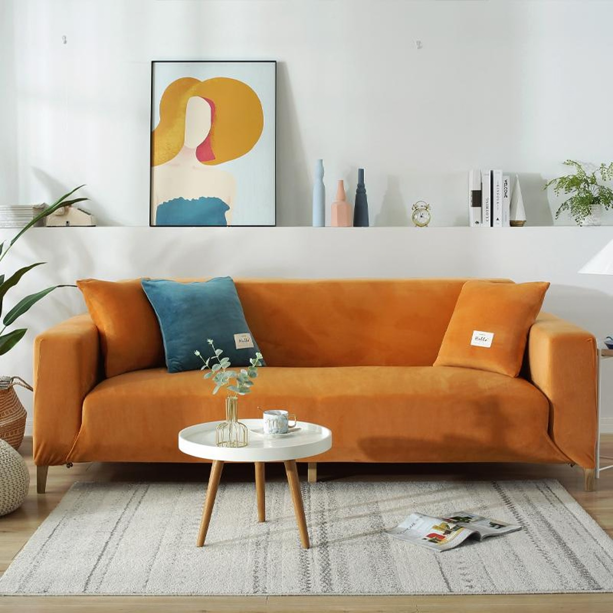 Thick Elastic Non-Slip Velvet Sofa Cover