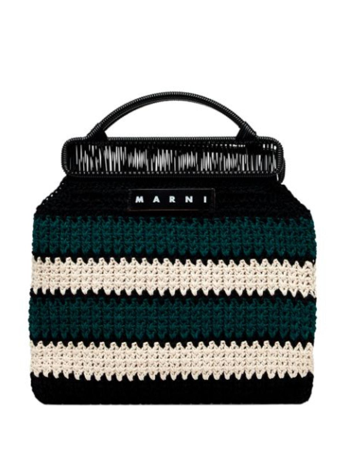 Striped Branded Tote Bag