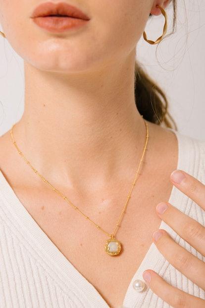 """Koko Capri """"Camilla"""" Pearl Pendant Necklace"""