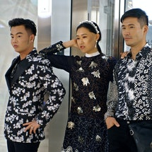 Kane Lim, Jaime Xie and Kevin Kreider in Bling Empire via the Netflix press site