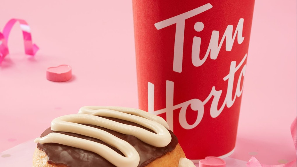 Tim Hortons' Valentine's Day 2021 deal includes a free donut.