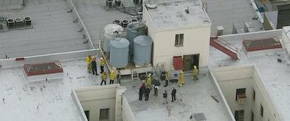 The roof of the Cecil Hotel in 'Crime Scene,' via Netflix press site.
