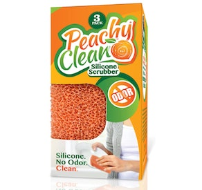 Peachy Clean Silicone Dish Scrubber (3-Pack)