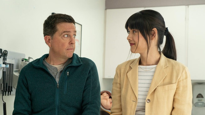 Ed Helms and Patti Harrison in 'Together Together,' which premiered at the 2021 Sundance Film Festival.