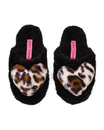 Betsey Johnson Heart Slippers