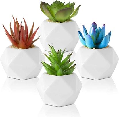 Set of 4 Fake Succulents