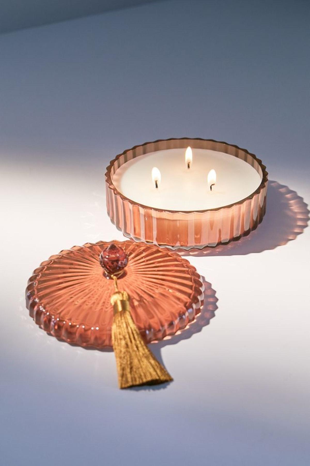 Chloe Glass 3-Wick Candle