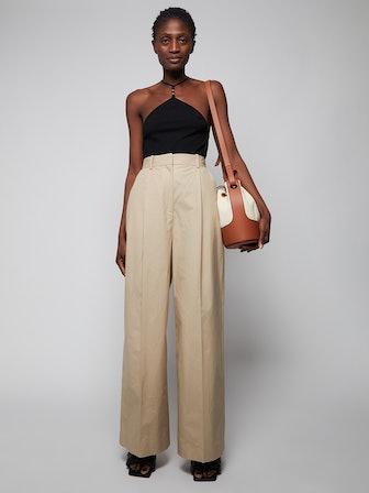 Loewe Beige Wide-Leg Trousers