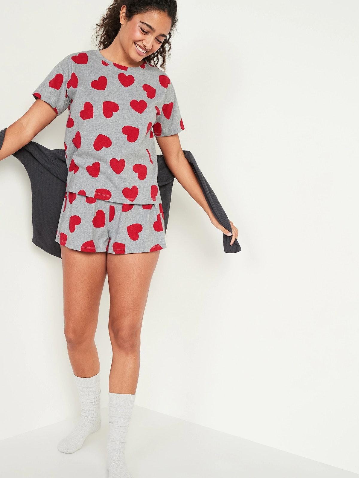 Old Navy Graphic Jersey-Knit Pajama Top & Pajama Shorts Set