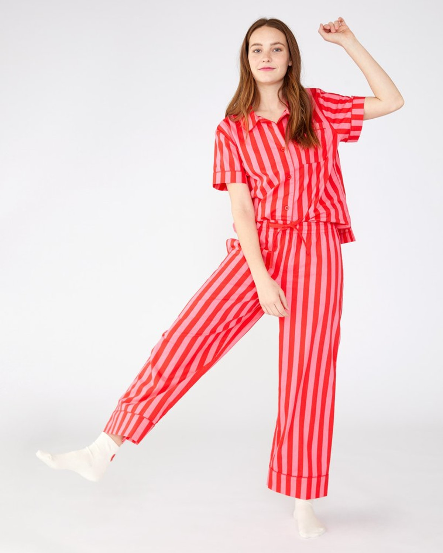 Leisure Pants Hot Pin/Red Stripe