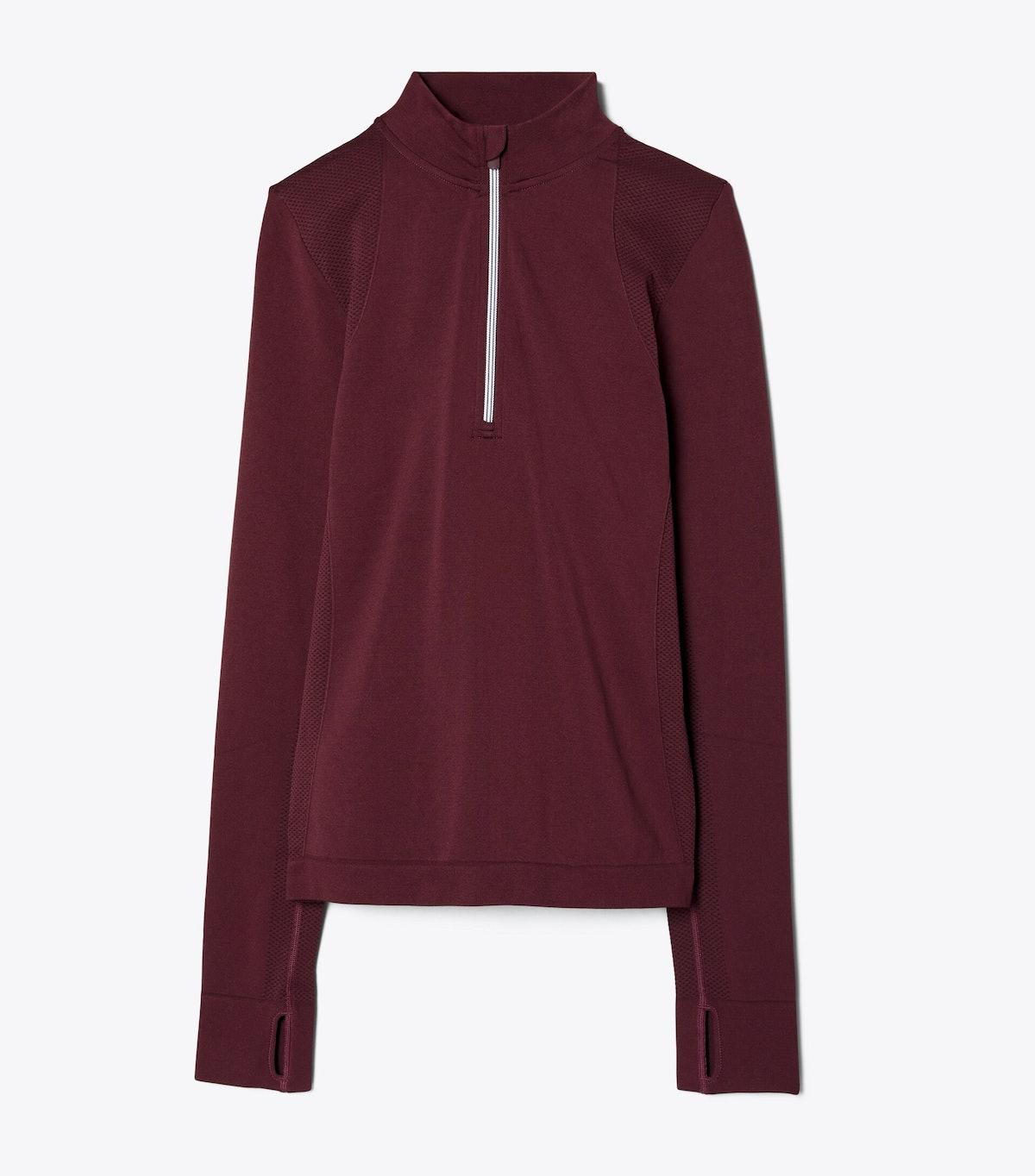 Seamless Half-Zip Pullover