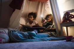 Build forts, play library, and play more childhood games when you're stuck inside during a blizzard.