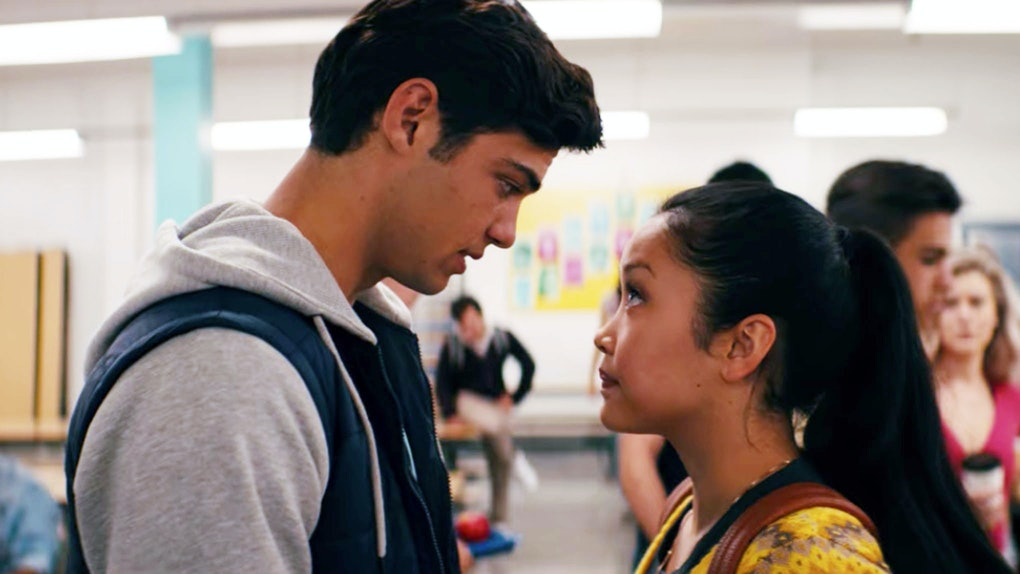 To All The Boys I've Loved Before: Peter & Lara Jean in Cafeteria