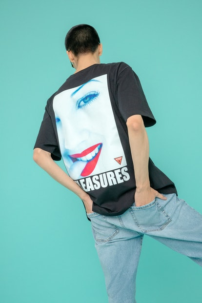 Guess x Pleasures Drew Barrymore collection.