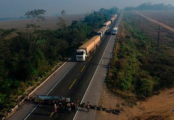 Amazon rainforest protest