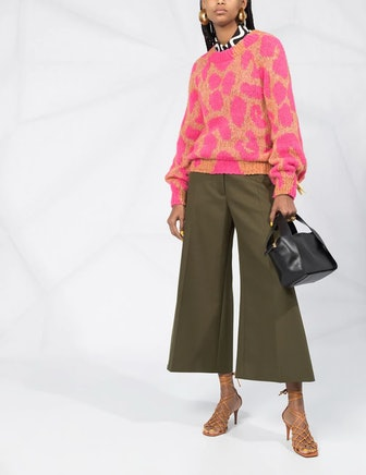 Stella McCartney Wide-Leg Cropped Trouser