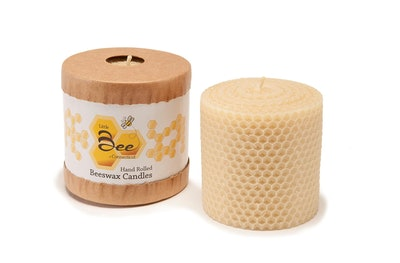 Hand-Rolled Beeswax Pillar Candle by Little Bee of Connecticut