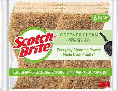 Scotch-Brite Greener Clean Non-Scratch Scrub Sponges (6-Pack)
