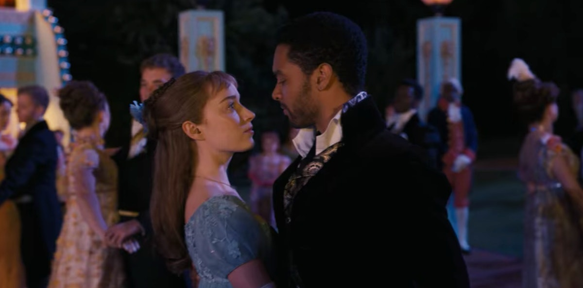 Daphne and Simon dance together at the ball in 'Bridgerton.'