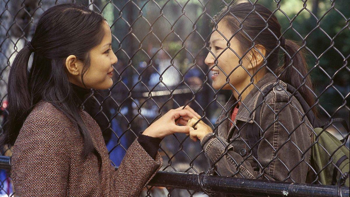 Michelle Krusiec as Wil Pang and Lynn Chen as Vivian Shing in Saving Face.