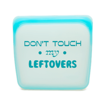 Don't Touch My Leftovers Reusable Silicone Bag
