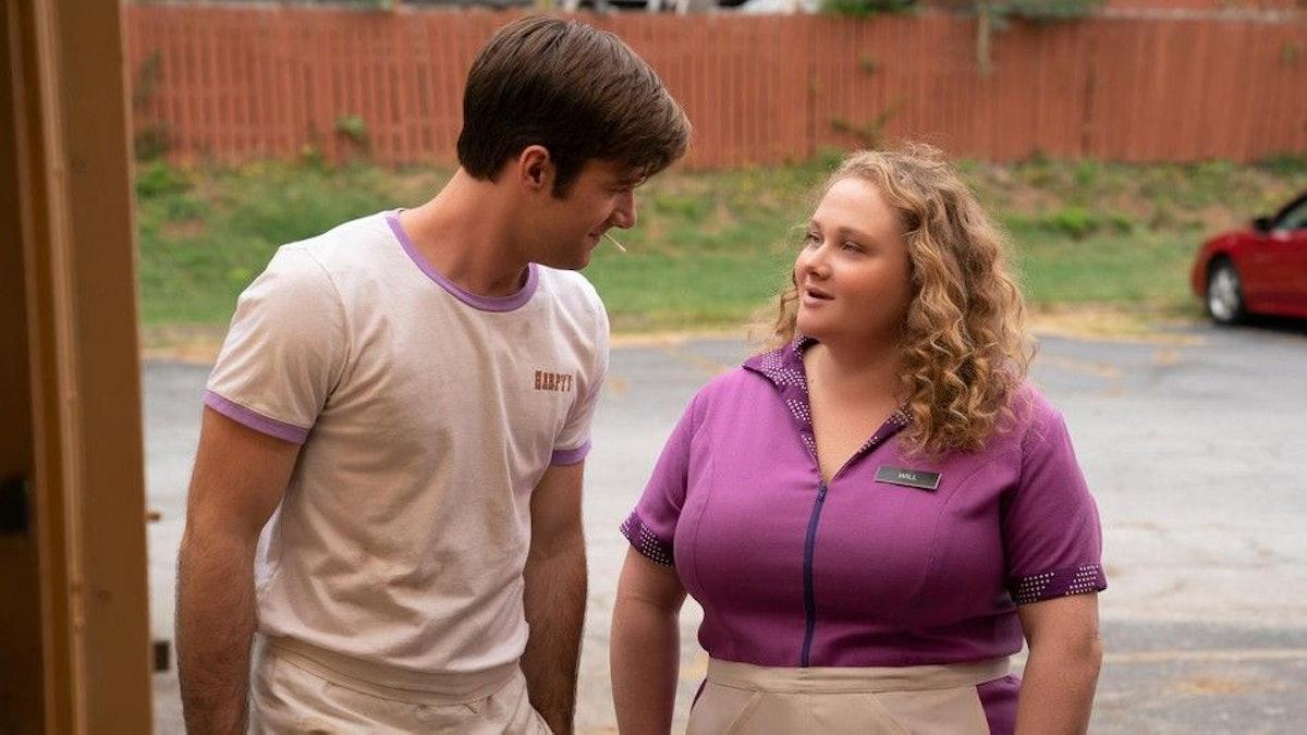 Luke Benward and Danielle Macdonald in Dumplin'.
