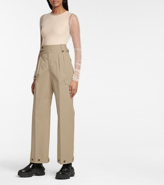 Maison Margiela High-Rise Cotton Pants