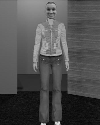 woman virtual doppelganger public speaking