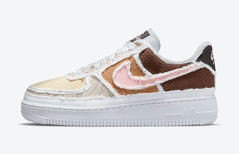 Brown and pink Air Force 1