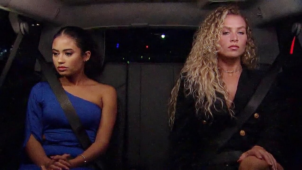 Jessenia and MJ on a 2-on-1 date during Matt James' season of 'The Bachelor'