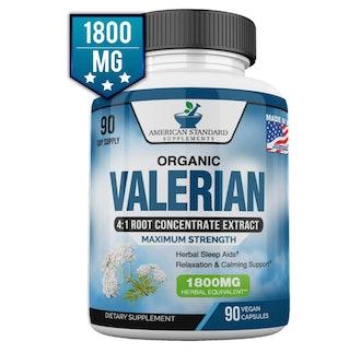 American Standard Valerian Root Capsules (90 Count)