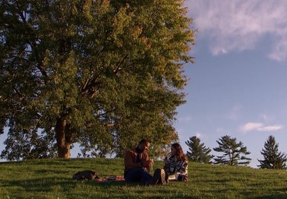 Matt James and Serena P. have a picnic on 'The Bachelor'