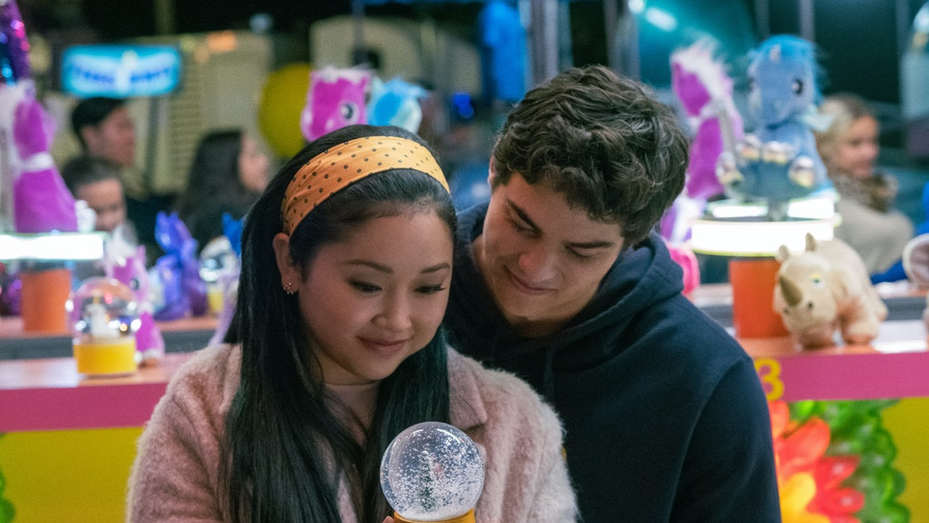 Lana Condor as Lara Jean and Noah Centineo as Peter in To All the Boys: Always and Forever.