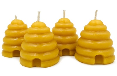 Natural Beehive Candle Votives (4-Pack)