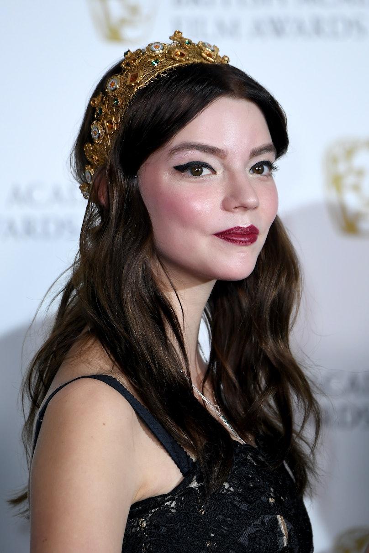 Anya-Taylor Joy in a crown.