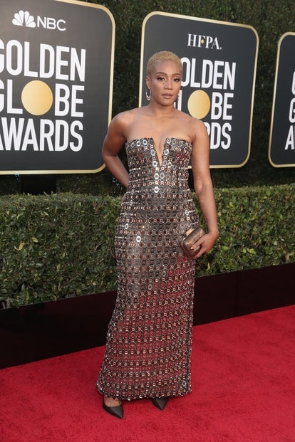 Tiffany Haddish in Alberta Ferretti at the 2021 Golden Globes.