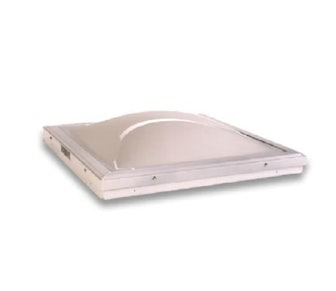 Solar Fixed Curb Mount Skylight, with White over Clear Acrylic Double Dome