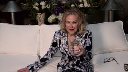 Catherine O'Hara in custom Vera Want at the 2021 Golden Globes.