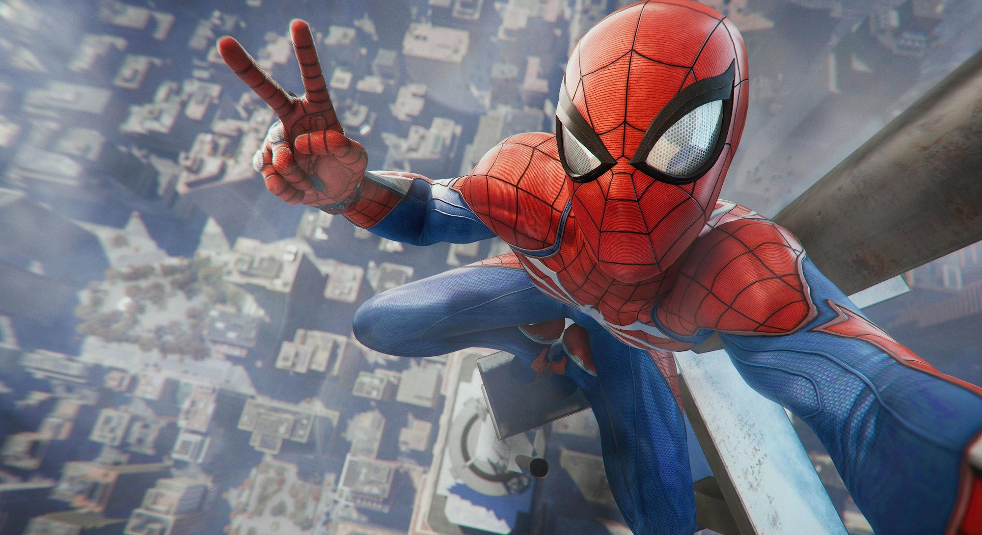 Spider-Man 4K selfie
