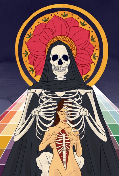 The Death tarot card corresponds with fixed water zodiac sign Scorpio.