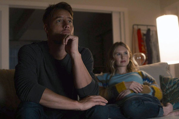 Justin Hartley as Kevin, Caitlin Thompson as Madison in This Is Us