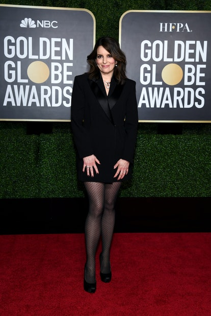 Tina Fey attends the 78th Annual Golden Globe® Awards at The Rainbow Room on February 28, 2021 in New York City.