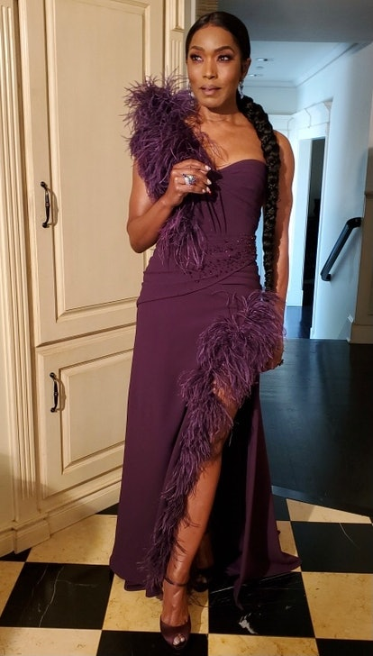 Angela Bassett in Dolce & Gabbana for the 2021 Golden Globes.