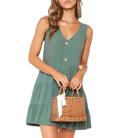 MITILLY Button Down Casual Short Dress