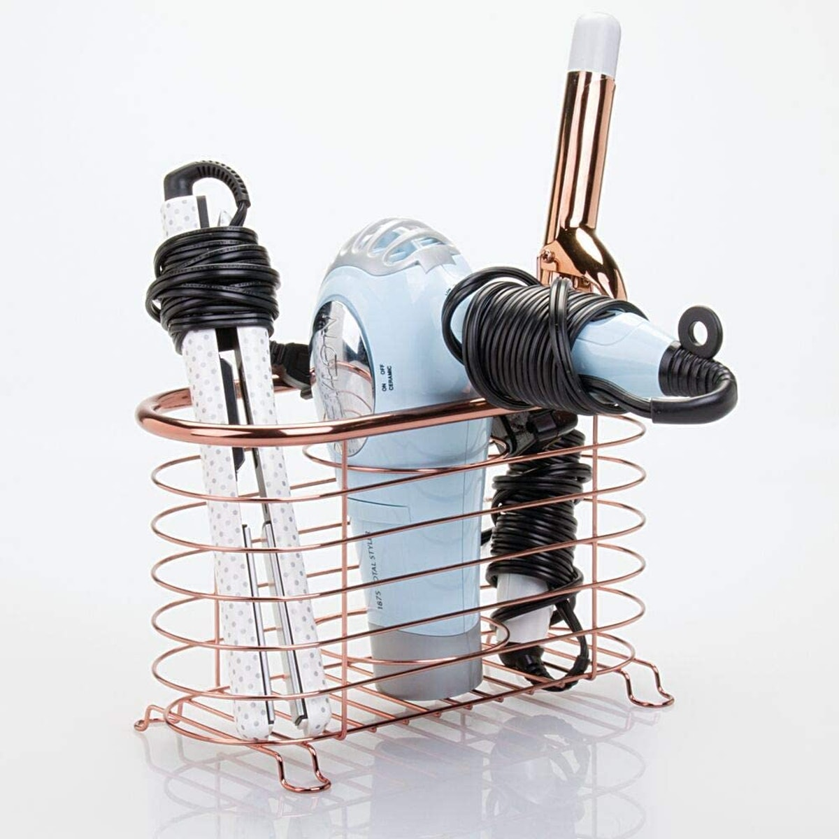 mDesign Metal Wire Hair Care & Styling Tool Organizer
